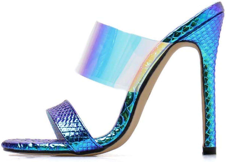 Women's Sandals - Transparent color PVC Sexy Open Toe Gradient Fashion Sandals