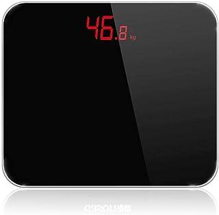 KLT Báscula de pesaje de alta precisión báscula de baño electrónica digital precisa báscula de peso digital para el hogar, equilibrio corporal, báscula de 180 kg, color negro