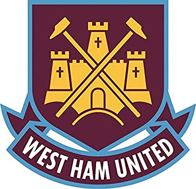 Set of 3 - West Ham United F.C. Soccer - Sticker Graphic - Auto, Wall, Laptop, Cell, Truck Sticker for Windows, Cars, Trucks