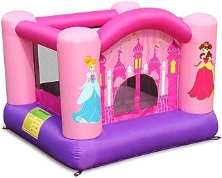 Princesa Castillo Inflable Tobogán para Niños Castillo Inflable Interior Y Exterior Pequeño Castillo Inflable Hogar Cuadrado Trampolín Juguete Inflable (Color : Pink, Size : 255 * 255 * 175cm)