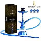 ROYAL SMOKING shisha design narghilè in acrilico di qualità 38cm Blu tubo camino e piatt...
