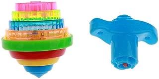 SGerste Novelty Light Up Spinning Tops Flashing Gyro Toys Boys & Girls