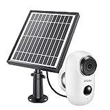 ZOSI 1080P Cámara de Vigilancia WiFi Exterior 100% Libre de Cables Batería Recargable/Panel Solar con 2 vías de Audio para Hogar (Panel Solar Incluido)