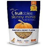 Fruitables Healthy Dog Treats | Low Calorie Training Treats for Dogs | Pumpkin Berry Flavor | 12 Ounces, White