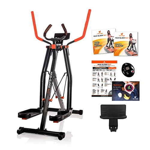 High Street TV Maxi-Glider 360 mit Widerstand Ebenen – Die 10 Home Exercise Fitness Trainer (Air Walker/Cross Trainer) enthält Heart Rate Monitor & Tablet Halterung (AS SEEN ON