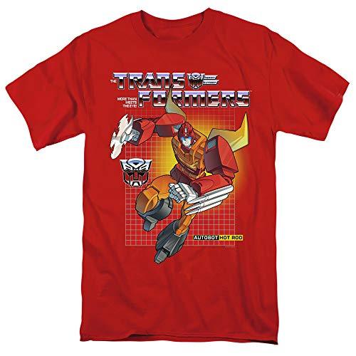 Transformers T-Shirt Hot Rod Red Tee, 4XL