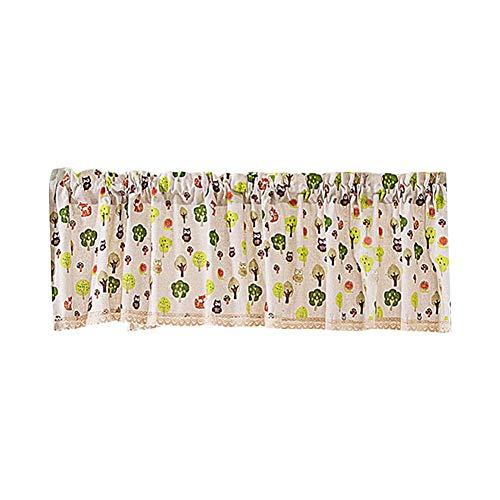Wifehelper bloemenprint patroon korte halve raam-gordijn-raam-behandeling voor hoofdkeuken, badkamer, slaapkamer