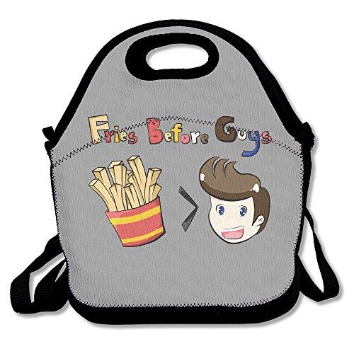 Pommes vor Jungs Mittagessen Tasche Reisen Schule Picknick Lunchbox Bag Lunch Holder für Damen, Herren, Kinder