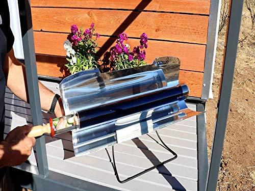 der Metallgrill-Nahrungsmittelklasse kocht rostfreie Energie effektiv kocht Majome Tragbarer Solargrill im Freien
