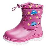 Anguang Chicas Invierno Nieve Calentar Tobillo Botas Zapatos Púrpura 1 26