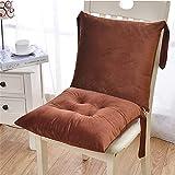 EXQULEG Niedriglehner Auflage Stuhlauflage, Rückenkissen Stuhlkissen, Gartenstuhl Sitzkissen Stuhl Polster Kissen Sitzpolster, 40x80cm (Kaffee)
