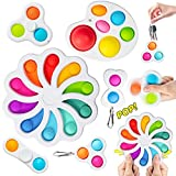Flower Simple Dimple Fidget Toys, A Simple Dimple Fidget Toy Set, Mini Simple dimple Toy Suit Easy to Use, Easy to Carry Stress and Anxiety Relief Handheld Toys Set for Kids and Adults