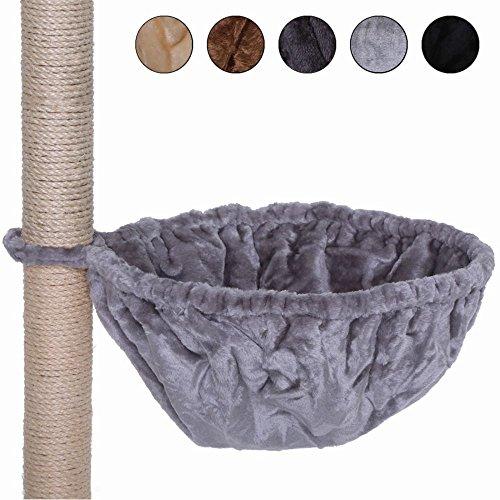 dibea Liegemulde für Kratzbäume, Schlafsack für Katzen, extra tief, besonders robust (40 cm, hellgrau)
