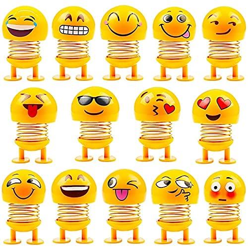 söt uttryckssymbol docka, roligt leende dans bil instrumentbräda dekoration, festtillbehör, gåvor, hem dekoration leksaker