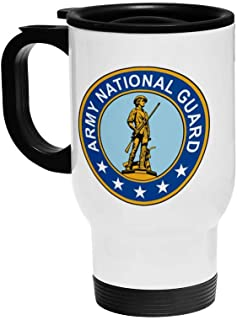 ExpressItBest 16oz Insulated Travel Coffee Mug - US Army Divisions - Many Options