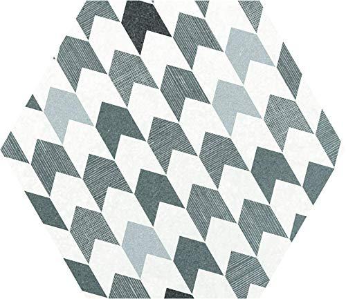Nais - Baldosas cerámicas para suelos y paredes de interior - Colección Hexatile - Color Insinuate (17,5x20 cm) - Caja de 1 m2 (35 piezas)