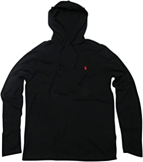 Polo Ralph Lauren Mens Jersey Knit Hoodie Tee (XX-Large, Polo Black)