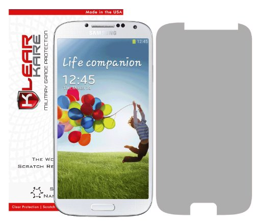 KlearKare Invisible Screen Shield Protector for Samsung Galaxy S4 | Military Grade Scratch Protection