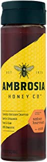 Ambrosia Amber Harvest Raw Honey, 12 Ounce, 6 Count - PACKAGING MAY VARY