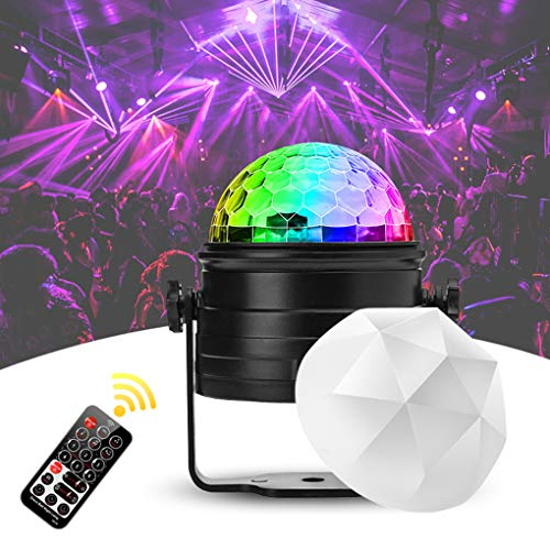 Discokugel Kinder Nakalus LED Discolicht Musikgesteuert Disco Lichteffekte RGB Partylicht, Zeitgesteuertes Stimmungslicht mit 7 Farben, 4...