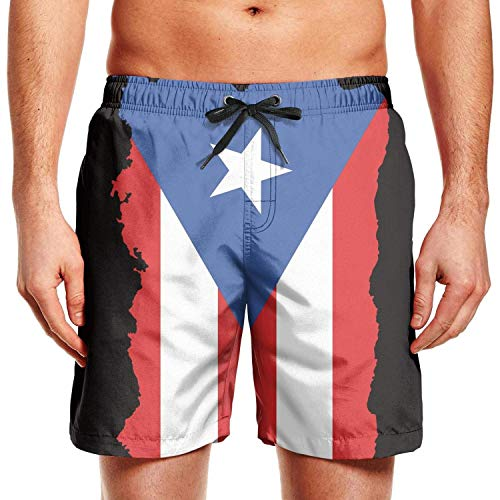 Hunter qiang Tabla de Surf para Hombre Shorts LGBT Bear Pride Flag Swim Trunks con cordón, XL