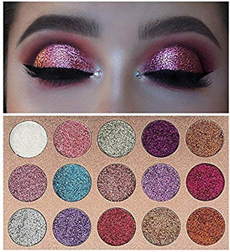 Beauty Glazed 15 Colors Glitters Eyeshadow Palette Shimmer Pigment Pressed Pallete Makeup Eye Shadow