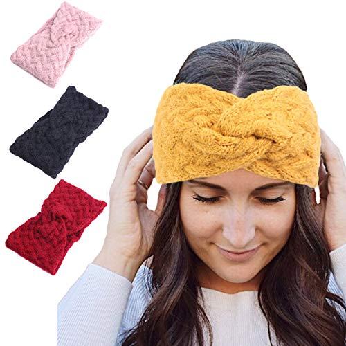 Croix Bandeaux Chauds Pour Les Femmes Automne Cheveux Accessoires Laine Bandeau Noeud Femme Chapeaux Cadeaux 4pcs