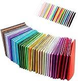 Coolty 40 Farben Filzstoff, Bastelfilz Filz Blätter für
