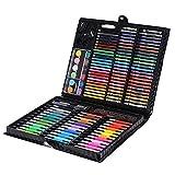 Joycaling Juego de bolígrafos de acuarela para niños 150 suministros de pintura de la escuela de alta gama de arte Deli oficina herramientas de pintura diversión actividad en casa escuela