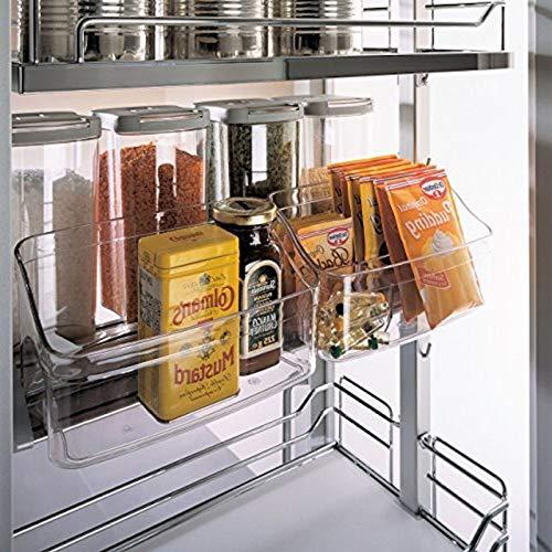 SOTECH transparante voorraadbakjes met 2 losse bakjes voor hoge kast Dispensa/voor Nobilia uittrekelement