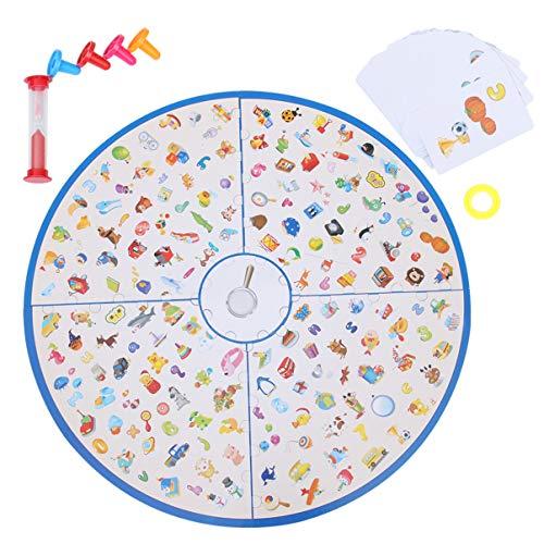 TOYANDONA Bijpassende Bordspellen Speelgoed Kleine Detective Kaartspel Tafelblad Spelbord Educatieve Spellen Geheugenspel Voor Familie Kinderen Peuters