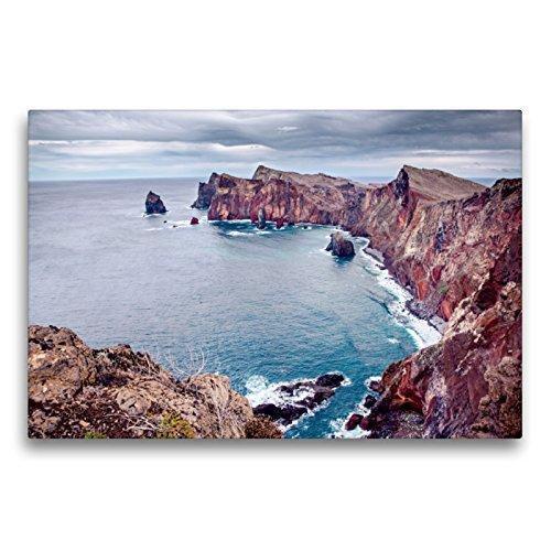 CALVENDO Premium Textil-Leinwand 75 x 50 cm Quer-Format Ponta do Bode. Die Nordküste der Insel Madeira, Leinwanddruck von Val Thoermer