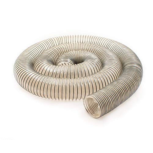 Fulton 2-1/2 inch x 10 foot Dual Anti Static | Dual Dissipative | Semi Transparent PVC Hose Impregnated with Carbon Black | Reinforced with a Carbon Wire Helix | Made In USA … (2-1/2' x 10')