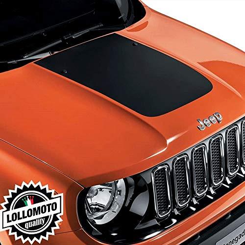 Lollomoto Striscia Adesiva Cofano Jeep Renegade Fuoristrada Adesivi Stickers Fiancate AUT Decal - Nero Opaco
