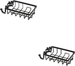 Parshall 2 STKS Badkamer Douche Hoek Plank Geen Boren Rustproof Ruimte Aluminium Douche Caddy Opslag voor Badkamer Keuken,...