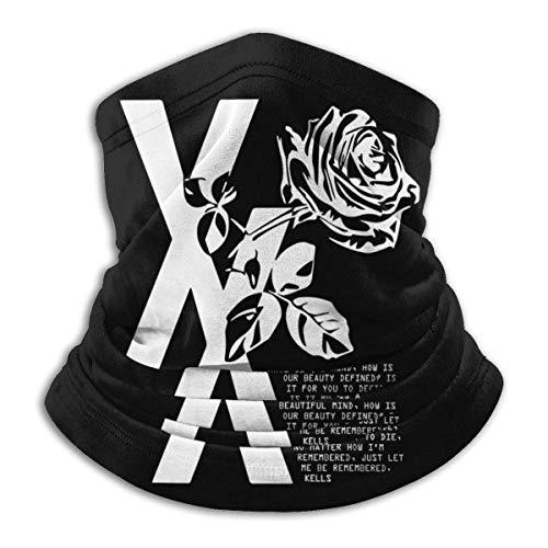 Winddichte Halsmanschette Gesicht MGK Flower Rose Anti Staubverschmutzung Bandana Kopfbedeckung Schal für den Außenbereich