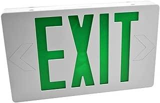 Easy Mount LED Exit Sign Emergency Light Lighting Emergency LED Light/Battery Back-up/Double Face/UL Certified (Green)