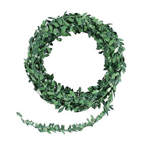 Fake Plants -Wreath Simulated Vine for Wedding Party Ceremony DIY Headbands Fake Plant 7.5m Artificial Garland Foliage Green Leaves Fake Flowers