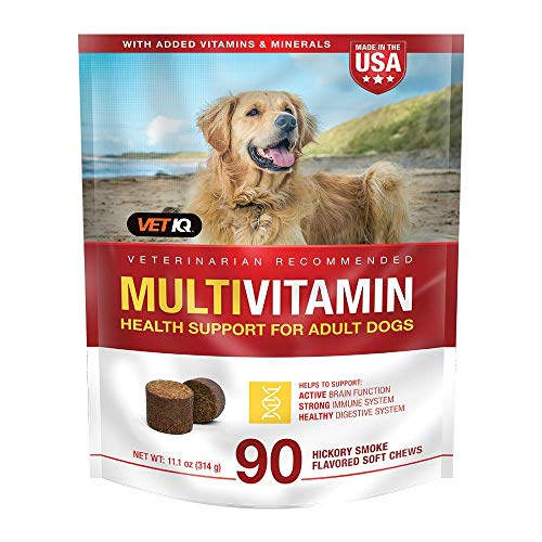 VetIQ MultiVitamin Health Support Supplement Soft Chews for Dogs  90 Count