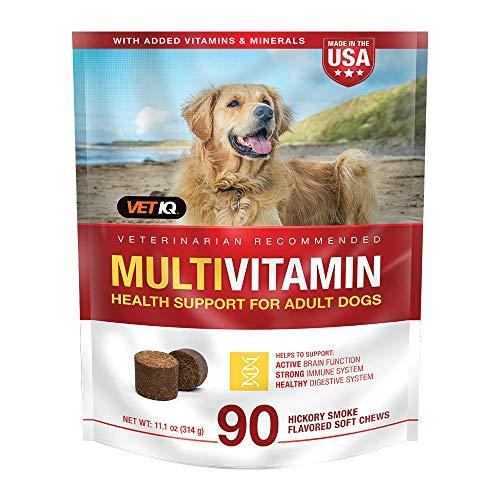 VETIQ Multivitamin Health Support Supplement for Dogs, Soft Chews 90Ct, 11.1oz