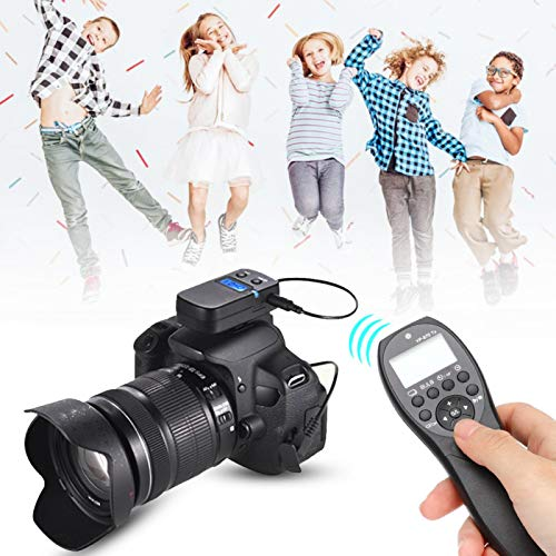 DAUERHAFT Control Remoto de liberación de Obturador inalámbrico de frecuencia de 2,4 GHz Control Remoto de liberación de Obturador de sincronización inalámbrica, para Nikon