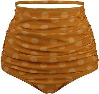 Lau's Braguitas de Bikini para Mujer Bikini Parte de Abajo Tiro Alto Braga de bañador con Estampado de Lunares