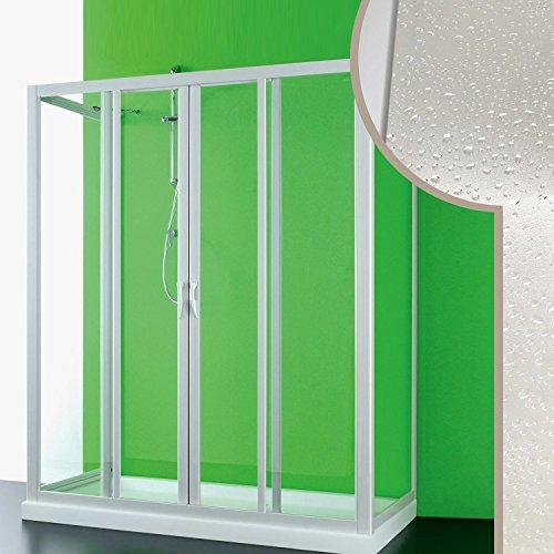 Cabine douche 3 côtés 90x170x90 CM en acrylique mod. Mercurio 2 avec ouverture centrale