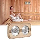 Lancei Sycamorie Double Dial Thermometer Hygrometer Sauna Room Equipment y Accesorios Lovely Appealing