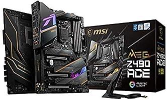 MSI MEG Z490 ACE Scheda Madre Gaming (ATX, 10 Gen Intel Core, LGA 1200 Socket, SLI/CF, Triple M.2 Slots, USB 3.2 Gen 2,...