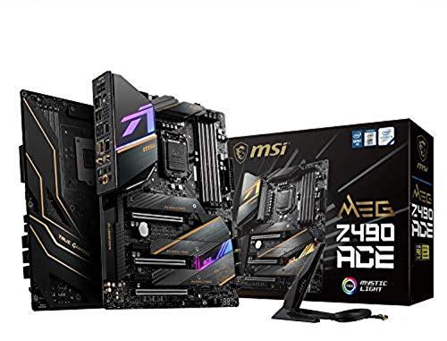 MSI MEG Z490 ACE ATX Gaming-Mainboard (10. Generation Intel Core, LGA 1200 Sockel, SLI/CF, drei M.2-Steckplätze, USB 3.2 Gen 2x2, Wi-Fi 6, Mystic Light RGB)