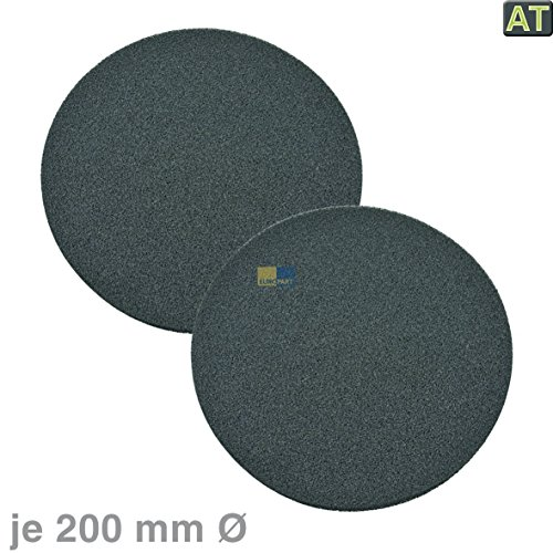 Bauknecht 481281719056 Kohlefilter Aktivkohlefilter Filter Geruchsfilter rund Ø 200mm 2 Stück Dunstabzugshaube auch Fagor/Brandt 74x3834 TypP205 CHF005 AD229XE1 DHD109BE1 HDG965B1