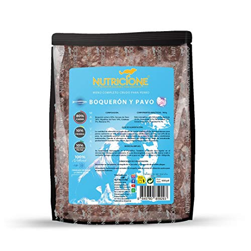 Nutricione - Barf MAX Vital Menú Completo Pescado y Pavo 5 kg congelado (10 Paquetes 500gr)