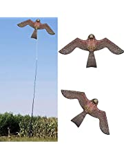 Bird Kite, Hawk Single Line of Prey Scarer Leichtgewicht Leicht Zu Montierende Emulation Flying Driver Kite Für Garden Yard Farm, Flat Hawk Kite Free Line Rig Schützen Sie Bauernkulturen