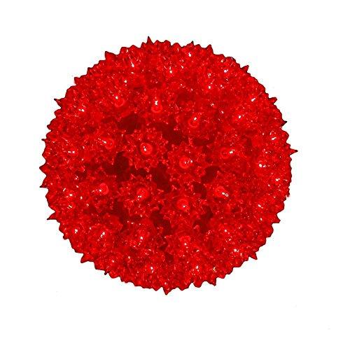 Novelty Lights SS100-RE Commercial Grade Indoor/Outdoor Christmas Starlight Sphere, Red, 100 Light, 7.5' Diameter, Stackable Plug
